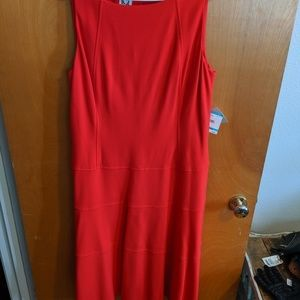 Anna Klein Red sleeveless dress
